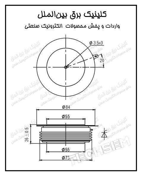 تریستور فست دیسکی 1330 آمپر 1800 ولت Y55KKE