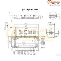 آی جی بی تی شش تایی 150 آمپر 1200 ولت INFINEON FS150R12KT3 اینفنیون