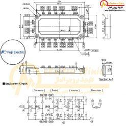 آی جی بی تی 7MBR100VN120-50 دارای جریان 100 آمپر و ولتاژ 1200 ولت ساخت شرکت فوجی الکتریک(Fuji Electric) ژاپن می باشد.
