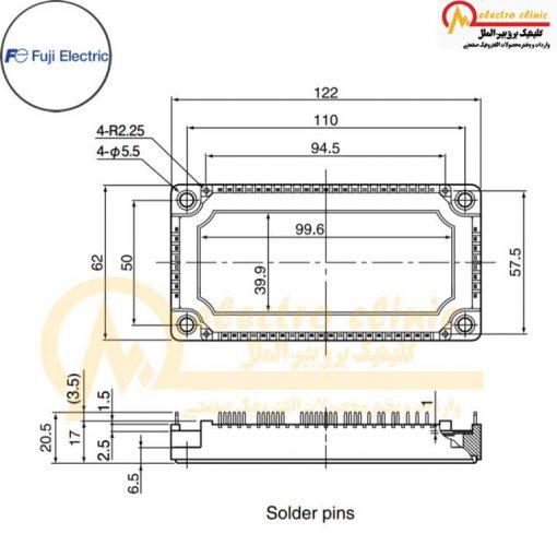 آی جی بی تی هفت تایی 50 آمپر 1200 ولت 7MBR50VN120-50 فوجی الکتریک