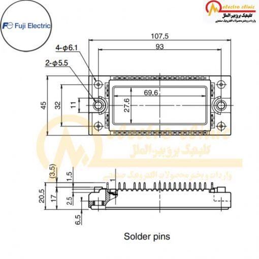 آی جی بی تی هفت تایی 75 آمپر 600 ولت 7MBR75VP060-50 فوجی الکتریک